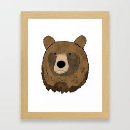Watercolor bear Framed Art Print