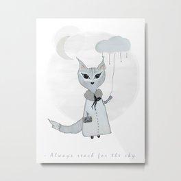Lili Moon // Little black lines Metal Print