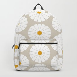 Minimal Botanical Pattern - Daisies Backpack