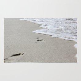 Footsteps on Florida's Beach Rug