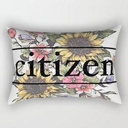 Citizen Floral Art Rectangular Pillow