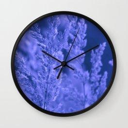 Blue reed Wall Clock