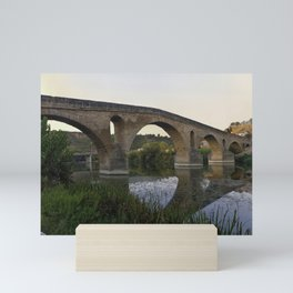 Medieval Bridge - Puente la Reina, Camino to Santiago de Compostela Mini Art Print