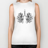 lungs Biker Tanks featuring lungs by khet13