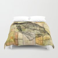 lotus Duvet Covers featuring Lotus by Aloke Design