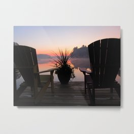 Cottage Sunrise Metal Print