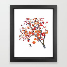 GIFT OF PERSIMMON Framed Art Print