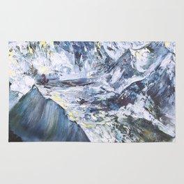 Jungfrau mountain. Swiss Alps Rug