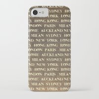 cities iPhone & iPod Cases featuring Cities by Linde Townsend