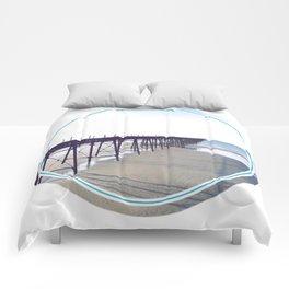 Victorian Pier - circle graphic Comforters