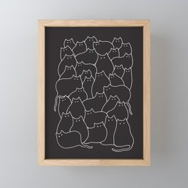Lots of Cats Framed Mini Art Print