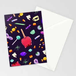 Halloween Candy Pattern Stationery Cards