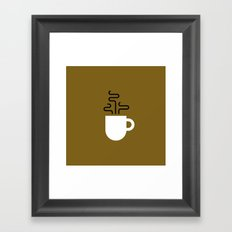 Coffee Cup Gold Framed Art Print