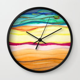 gradient stripes Wall Clock