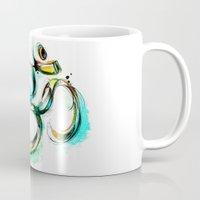 ohm Mugs featuring Ohm by Abby Diamond