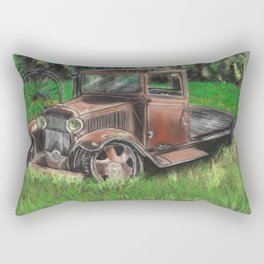 Tarnished memories Rectangular Pillow