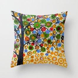 Garden of Moons #2 Throw Pillow