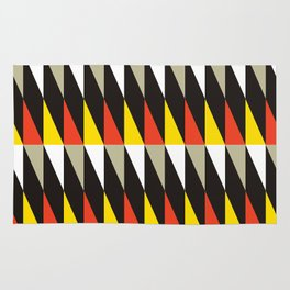 Midcentury red, black, grey & yellow Rug