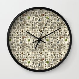 Vintage Entomology Wall Clock