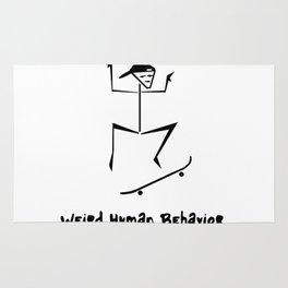 Weird Human Behavior - Skateboarding Rug