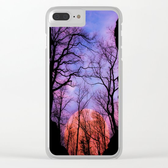 Moonrise Canyon Clear iPhone Case