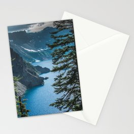 Blue Crater Lake Oregon in Summer Stationery Cards