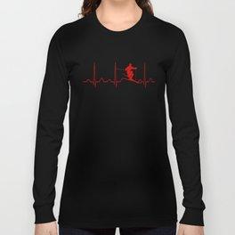 SKIING MAN HEARTBEAT Long Sleeve T-shirt