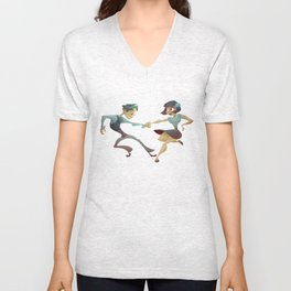 Swing dance 2 Unisex V-Neck