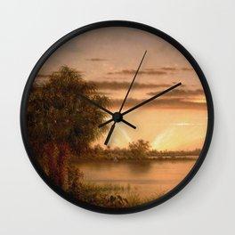 Martin Johnson Heade - Florida Sunrise Wall Clock