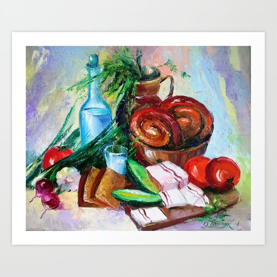 National still life Art Print