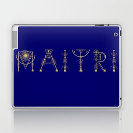 Maitri in Sacred Geometry Alphabet Laptop & iPad Skin