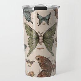 Butterflies and Moth Specimens Travel Mug