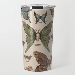 Butterflies and Moth Specimens Travel Mug