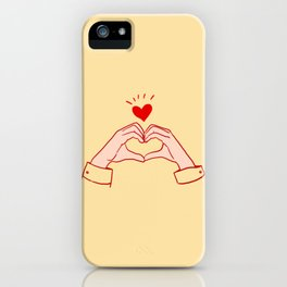 kpop hand heart sign  iPhone Case