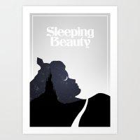 sleeping beauty Art Prints featuring Sleeping Beauty by Rowan Stocks-Moore