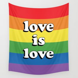 Love is Love Retro LGBT Wall Tapestry