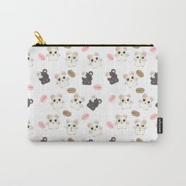 Hamsters and Macarons Carry-All Pouch