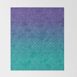 Ariel Mermaid Inspired Purple & Green Throw Blanket