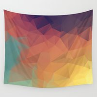 polygon Wall Tapestries featuring Polygon by Zhavorsa