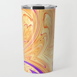 orange and purple wave pattern Travel Mug