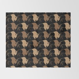 Native American Buffalo Running Throw Blanket