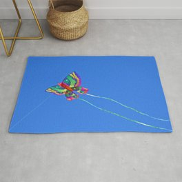 High Flying Butterfly Kite Rug