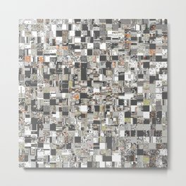 Geometric Jumble of Colors And Textures Metal Print