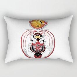 Cosmic Bloodshot Dragon Rectangular Pillow