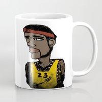 basketball Mugs featuring Basketball  by JBLITTLEMONSTERS
