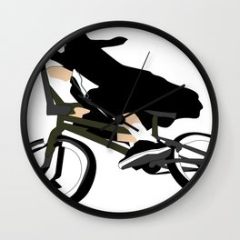 nun on bmx Wall Clock