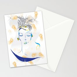 sleeping angel Stationery Cards