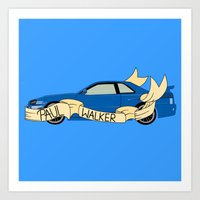 Blue Skyline Art Print