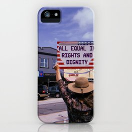 Equal Rights Protest in Denton, Texas iPhone Case