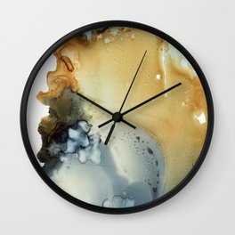 Abstract in umber and grey Wall Clock